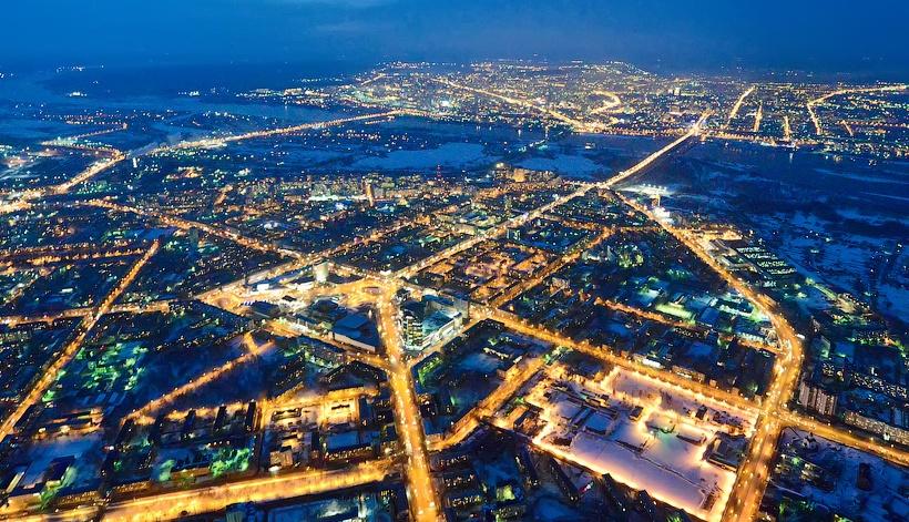 Stadtrundfahrt in Nowosibirsk (auf dem Transport)