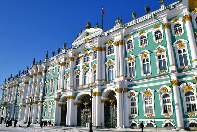 La visita del museo Estatal Hermitage (en coche).