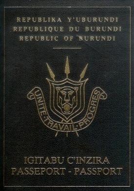 Паспорт Бурунди