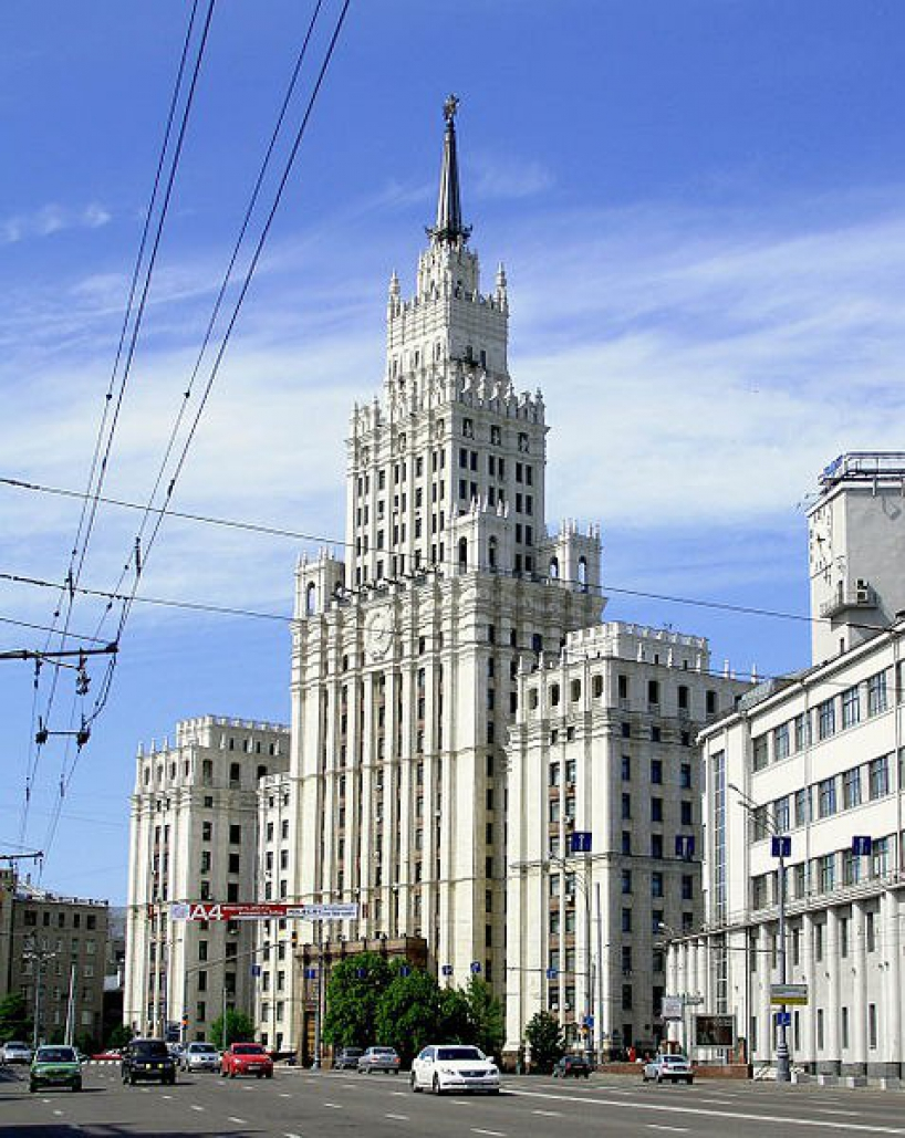 High-rise building on the area of the Red Gate - photo of russia
