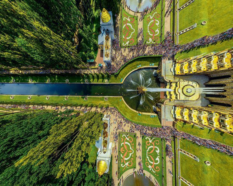 Peterhof from above