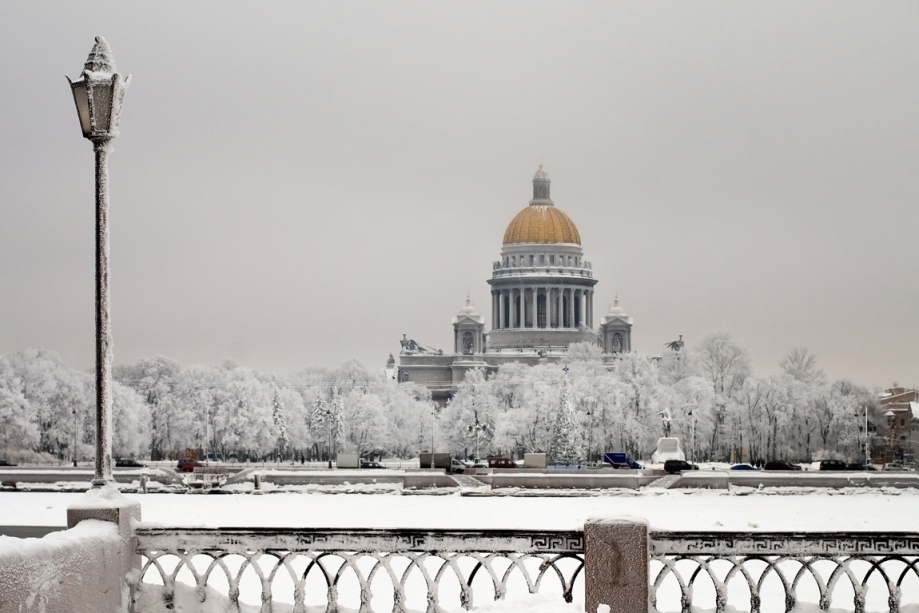 St. Isaac´s Cathedral in winter