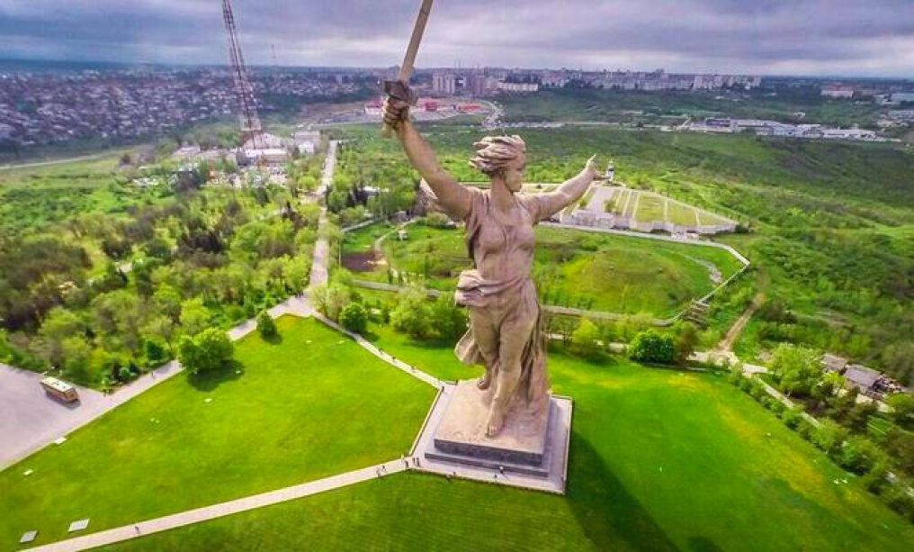 The Motherland Calls monument in Vogograd