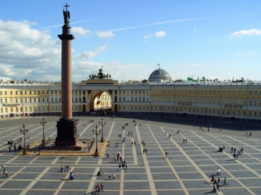 Palace Square in St. Petersburg - photo of russia