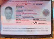 Паспорт России разворот   получение визы в Эстонию онлайн