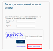 Заполнение анкеты  - 1 - первая страница | получение визы в Финляндию онлайн