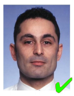 Пример правильной фотографии | получение визы в Италию онлайн