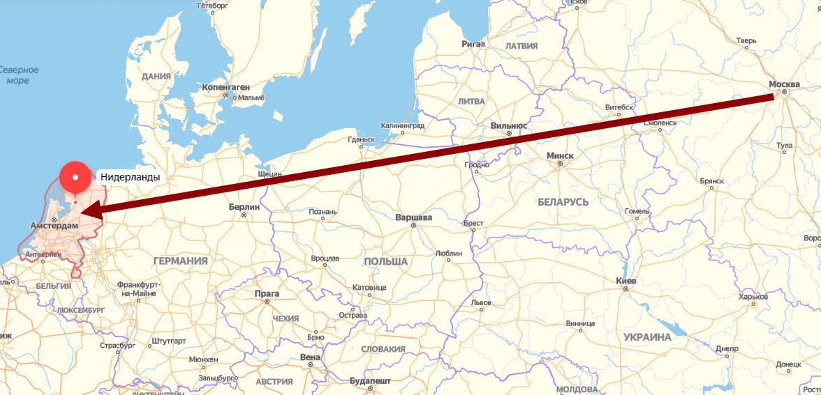 Нидерланды на карте
