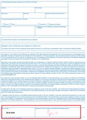 Заполнение анкеты страница 3 | получение визы в Испанию онлайн