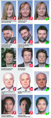 Примеры правильной фотографии - 2 | получение визы в Испанию онлайн