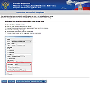 Consular visa application form: print