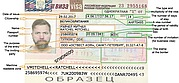 How looks a visa to Russia