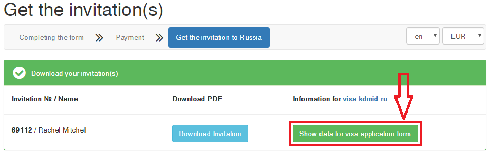 step by step application for russian visa