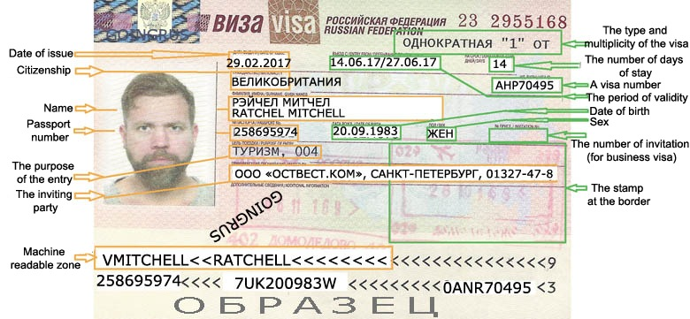 Оформление визы в россию для иностранца стоимость что