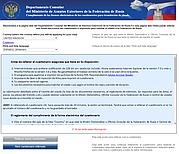 Llenar el formulario de visado en el Consulado de la Muestra