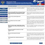 Consular de solicitud de visa: más datos