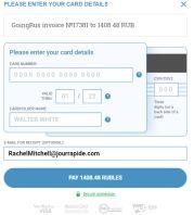 Modulo di supporto per il visto. Ripieno: pagamento